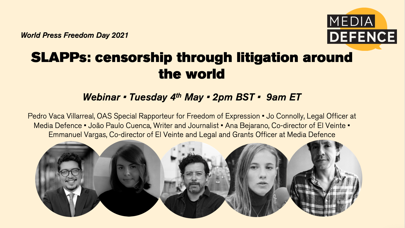 World Press Freedom Day 2021: Watch Media Defence's Webinar on SLAPPs